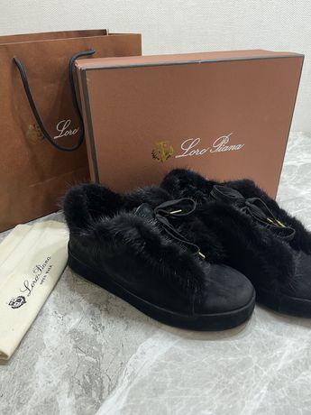 Продам замшевые ботиночки Loro Piana