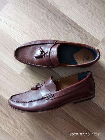 RIVER ISLAND skórzane buty męskie, rozm. 42