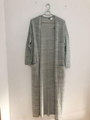 Długi sweter sweterek H&M 36