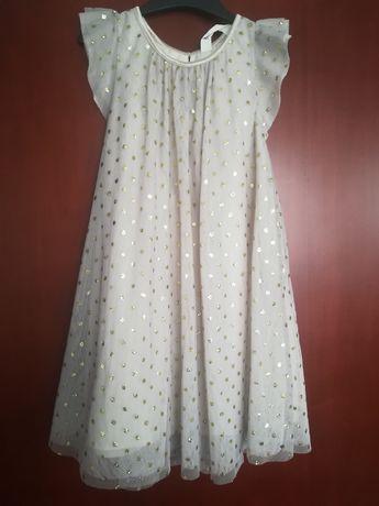 Beżowa sukienka h&m