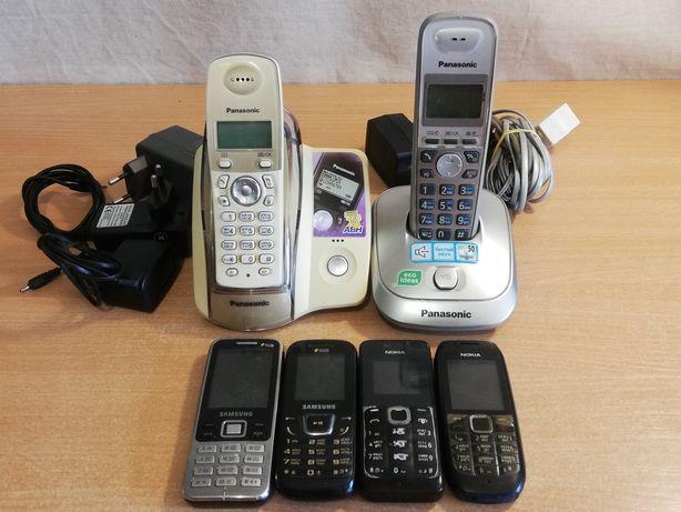 Телефон Samsung Nokia Panasonic кнопочный стационарный радиотелефон