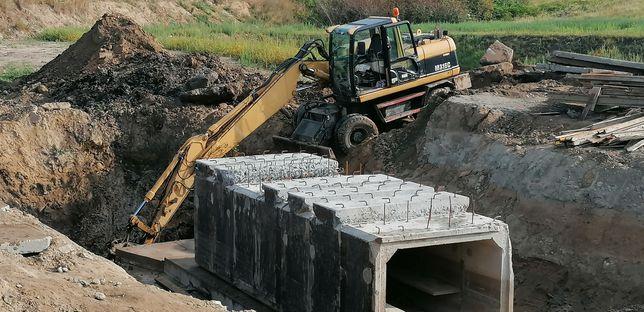 Koparka kop-ładowarka transport piasek kruszywo