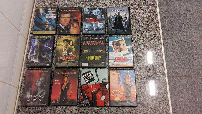 DVD Diversos Platoon - Tornado - Ronin - U2 - Matrix - Queen...