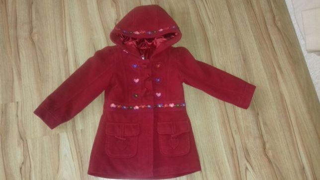 płaszcz, kurtka na jesień/zimę, czerwona, dla dziewczynki rozmiar 86