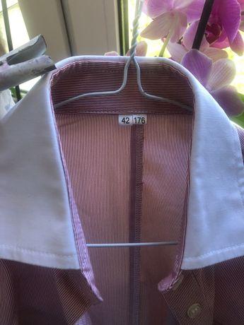 Рубашка красная полоска S Новая 42/44p sale 90 грн