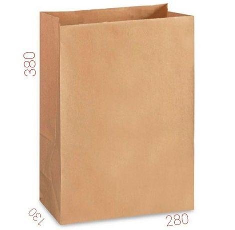 Бумажный крафт пакет без ручек