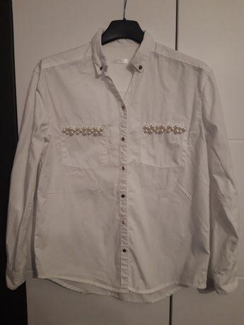 biała koszula zakończenie roku szkoła dla dziewczynki perełki 146/152
