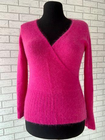 Sweterek włoski z angory z wełną M
