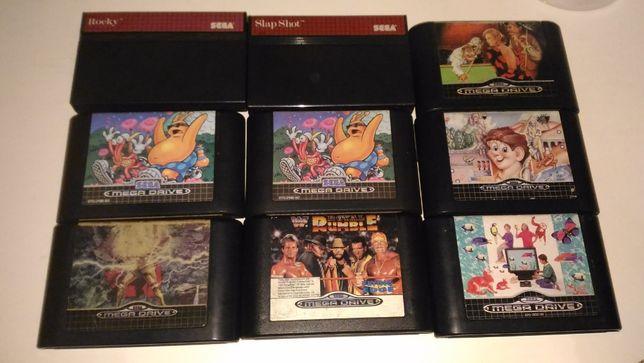Lote Jogos Sega Master System e Sega Mega Drive