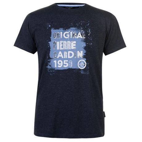 Pierre Cardin navy marl L koszulka tshirt