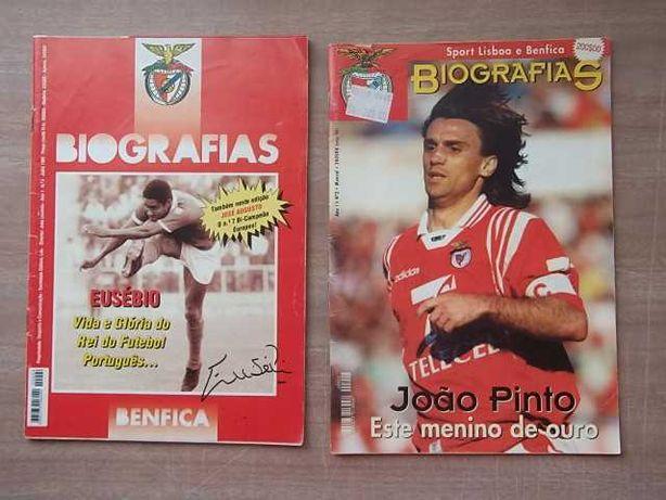 BENFICA Biografias EUSÉBIO Ano I nº 4 -1995 JOÃO PINTO Ano I nº2 -1998