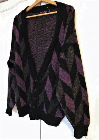 vintage sweterek cardigan oversize L retro 90s