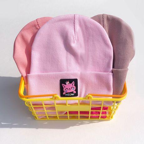 Шапка + хомут для дівчинки, останні кольори!