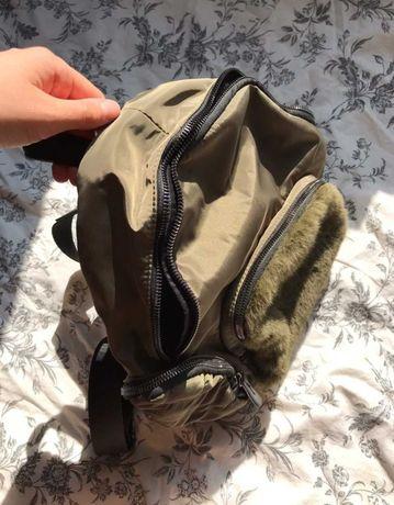 Plecak Luka by Łukasz Jemioł z futerkiem zielony