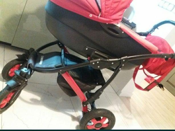 Camarelo Sevilla wózek 3w1 czerwony
