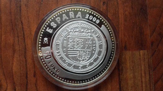 Moeda 5 Onças de Prata  50 Euros Espanha 2009