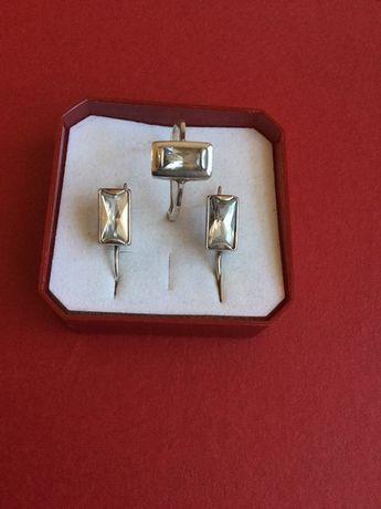 Pierścionek i kolczyki srebrne