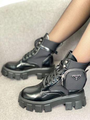 5Топ обувь ∎ PRADA Boots ∎ Стильные ботинки ∎ кожа ∎ Люкс качество