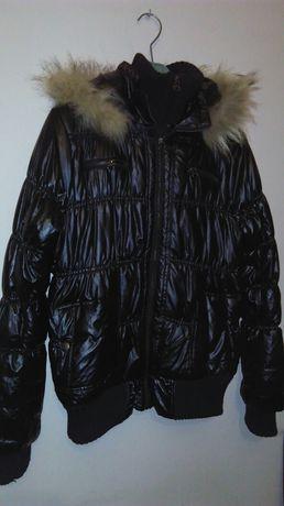 Ciepła kurtka  zimowa damska woskowana xl /xxl roz 44-46