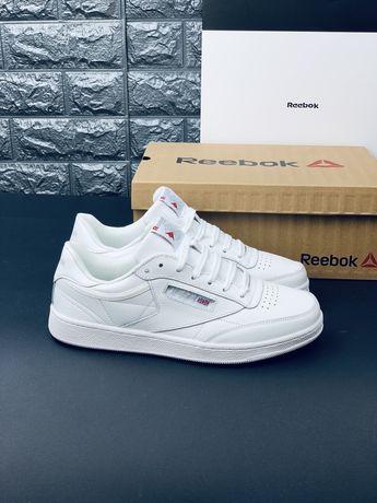 Кожаные кроссовки Reebok кросівки Рібок класик білі Шкіра! White 2020
