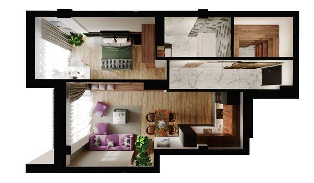 1-кімнатна квартира-студія, у новобудові, м. Червоноград, Левада, СШ№1