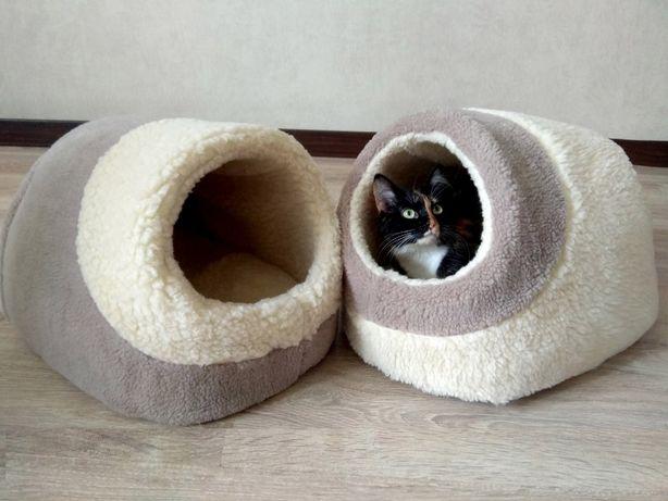 Домики для животных, из меха и ткани, для собак и кошек.