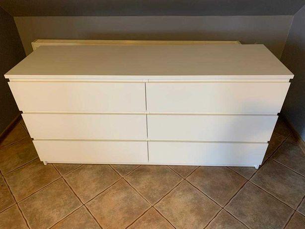 Komoda biała MALM 6 szuflad