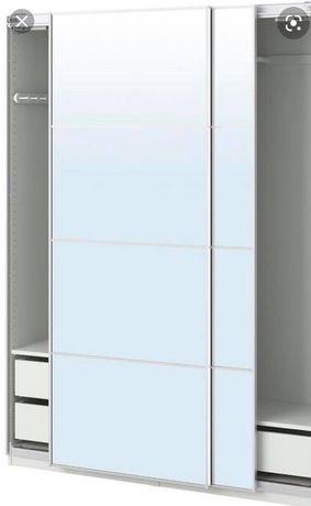 Szafa Pax Ikea 200x150x60 z drzwiami białymi i lustrzanymi