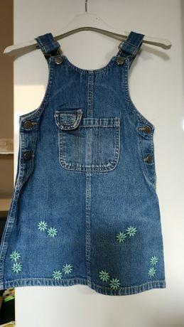 Spódniczka na szelkach jeansowa