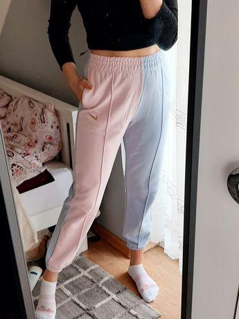 Spodnie dresowe dresy nike loose fit M pastelowe luźne długie