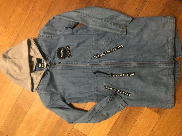 Wiosenna jeansowa parka reserved 146 jak nowa