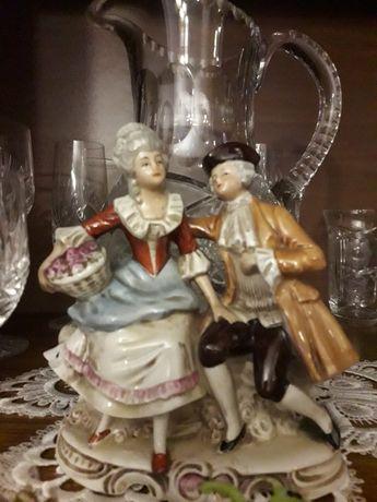 Figurka z porcelany porcelanowa para