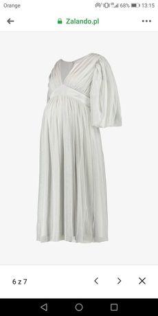 Ciążowa sukienka balowa idealna na wesele r. 34