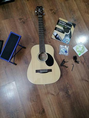 // Super Gitara Jasmine JM-10 NAT Mini + dużo dodatków //