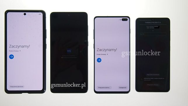 Odblokowanie telefonu Samsung usuwanie blokad Plus IMEI Tmobile Google