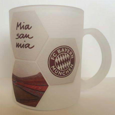 Kubek szklany szroniony FC BAYERN Monachium