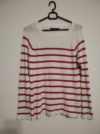 Wysyłka 1 zł sweterek w paski M 38 pasiak marynarski styl