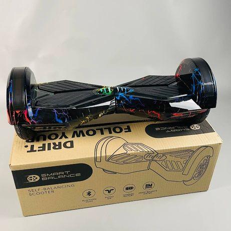 """Гироборд 8"""" гироскутер Smart Balance Цветная молния, Смарт баланс"""