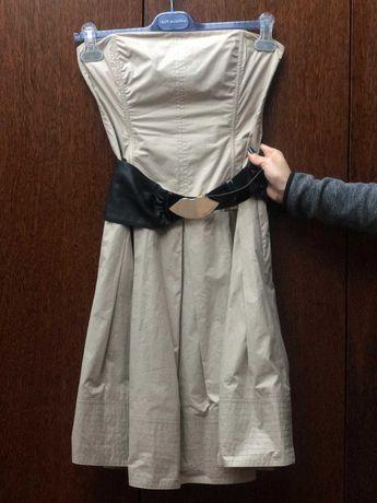 Vestido Bege Celine com Cinto