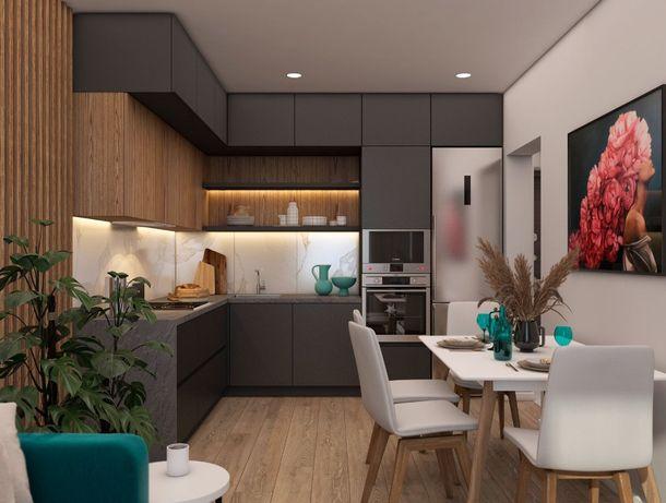 2 комнатная+кухня-гостиная в новом доме на Таирова. Дом сдан.Рассрочка
