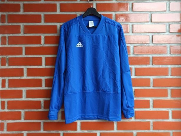 Adidas Climalite CG0381 мужская синяя кофта для бега размер S