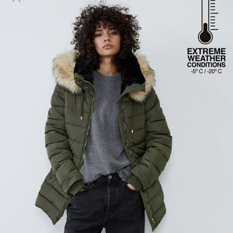 Куртка от Zara. Водонепроницаемая, теплая