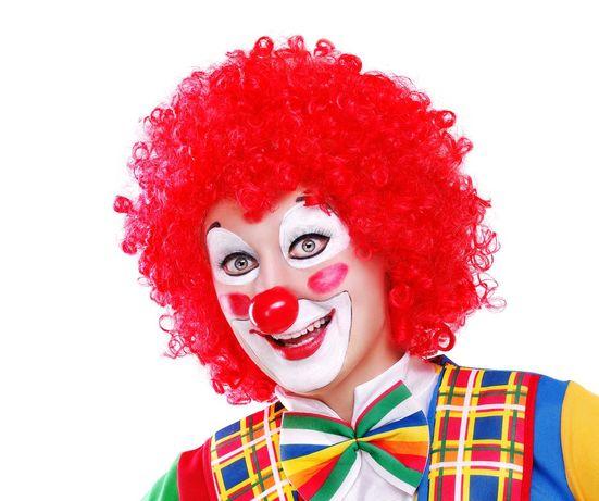 Парик клоуна красный, радужный