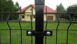 Słupek ogrodzeniowy H 2,0 m ścianka 1,25 profil 60x40 kolorb