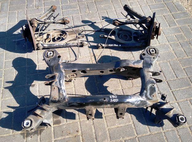 BMW E90 E91 E92 E87 E81 zawieszenie sanki tył zwrotnice wahacz piasty