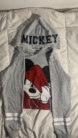 Camisola curta do mickey