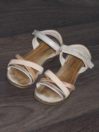 american club złoto-beżowe sandałki r.34 super!!