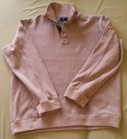 bluza sweter XL 100% bawełnaM&S BLUE HARBOUR beżowa ciepła