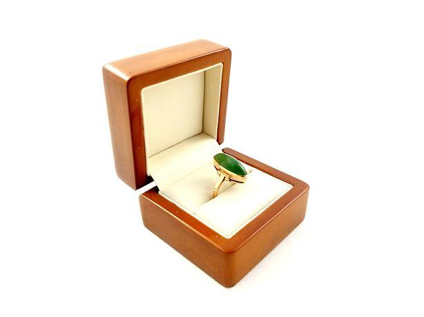 Złoty pierścionek z oczkiem PR. 585 Waga: 4,19g