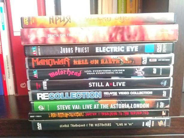 DVD-Slayer,Motorhead,Manowar,Steve Vai,Trust,Judas Priest,Iron Maiden